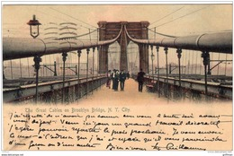 THE GREAT CABLES ON BROOKLYN BRIDGE NEW YORK CITY 1905 PRECURSEUR TBE - Brooklyn