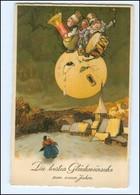XX006778/ Neujahr Litho AK Mond Ca.1925  - New Year