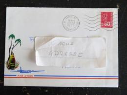 PARIS 97 RUE J. LIOUVILLE 15e - FLAMME MUETTE SUR MARIANNE BEQUET - Marcophilie (Lettres)