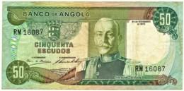 Angola - 50 Escudos - 24.11.1972 - Pick 100 - Série RM - Marechal Carmona - PORTUGAL - Angola