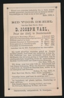 PRIOR DENDERMONDE - D.VAEL- MOERBEKE 1823 - DENDERMONDE 1888 - Todesanzeige