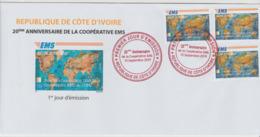 Côte D'Ivoire Ivory Coast 2019 FDC 1er Jour Mi. ? Joint Issue 20e Anniversaire EMS 20 Years Emission Commune E.M.S. UPU - Côte D'Ivoire (1960-...)