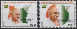 Côte D'Ivoire Ivory Coast 2019 Mi. ? 150ème Anniversaire Mohandas Mahatma Gandhi Peace Dove Bird Frieden Paix Oiseau - Joint Issues