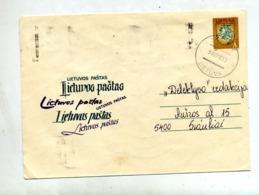 Lettre Entiere A Chevalier Illustré Texte - Lituanie