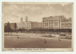 CAGLIARI - HOTEL MIRAMARE E PALAZZO COMUNALE DAL MARE 1941 -  VIAGGIATA  FG - Cagliari