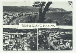 SALUTI DA DIANO MARINA - PANORAMA DA CAPO BERTA E LIDO S.ANNA - NV  FG - Imperia