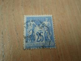 Timbre Sage 25 C Oblitéré - 1876-1878 Sage (Type I)