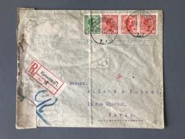 Danemark  (timbres Perforés) Sur Lettre Recommandée De Kjobenhavn + Censure - (B2360) - 1913-47 (Christian X)