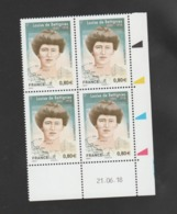 FRANCE / 2018 / Y&T N° 5266 ** : Louise De Bettignies X 4 - Coin Daté 2018 06 21 - Unused Stamps