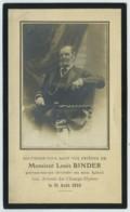 Souvenir Mortuaire Du Carrossier Louis Binder (1821-1910) . Voitures Hippomobiles . - Images Religieuses