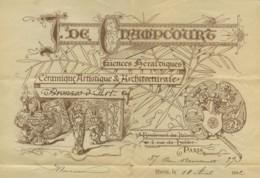 J. De Champcourt . Faïences Héraldiques . Brevets . Généalogie . Illustration De Richard Barabandy . 1892 . - France