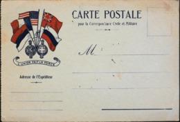 GUERRE 1914-18 - CARTE POSTALE Pour La Correspondance Civile Et Militaire - Daté 14.10.1917 - TBE - War 1914-18