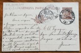 AMBULANTE ANCONA - ROMA 126  (A) 1/2/26 SU CARTOLINA POSTALE DA ROMA A FANO - 1900-44 Vittorio Emanuele III