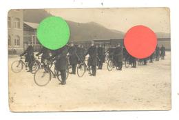 Photo Carte - Unité De Carabiniers Cyclistes Ou Cyclistes Frontière - Armée Belge - Militaire  (b268) - War 1939-45