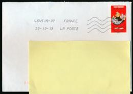 """2019 : Timbre Postal Adhésif """"BD, Ordralfabétix, Tous Timbrés ! Astérix, Poisson"""" Seul Sur Lettre - Storia Postale"""
