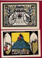Allemagne 1 Notgeld 50 Pfenning  Stadt Döbeln  (RARE-SERIE COMPLETE  Dans L 'état Lot N °5083 - Collections