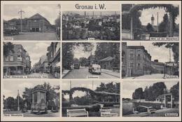Ansichtskarte Gronau Mit 9 Bildern Als Feldpost Reserve-Lazarett GRONAU 3.8.1940 - Ansichtskarten