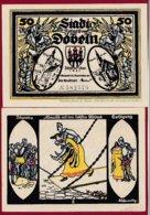 Allemagne 1 Notgeld 50 Pfenning  Stadt Döbeln  (RARE-SERIE COMPLETE  Dans L 'état Lot N °5084 - Collections