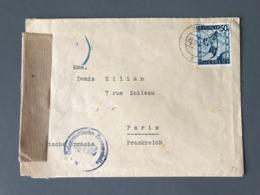 Autriche, Lettre Pour Paris, Cachet De Censure Bleu Osterreichische Zensurstelle 462 - (B2368) - Briefe U. Dokumente