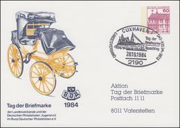 Privatpostkarte PP 106/164b Tag Der Briefmarke SSt CUXHAVEN 28.10.1984 - [7] Federal Republic
