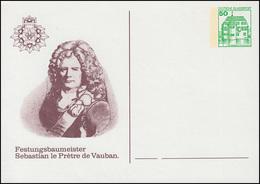 Privatpostkarte PP 104/48 Festungsbaumeister De Vauban, Ungebraucht ** - [7] República Federal