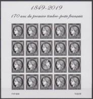 Bloc Feuillet 1849 -2019 Les 170 Ans Du Premier Timbre-poste Français - Sheetlets
