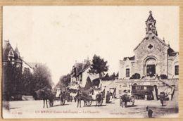 X44092 Cliché Peu Commun LA BAULE (44) Roulotte Excursions Attelages Place La CHAPELLE 1910s Héliotypie DUGAS L-I 615 - La Baule-Escoublac