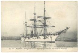 """Cpa Voilier """" Le Vaucluse """" Envoyé En Mission Hydrographique Dans Les Mers Du Pacifique  ( BA ) - Voiliers"""