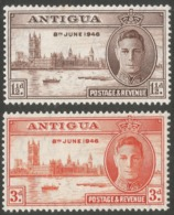 Antigua. 1946 Victory. MH Complete Set SG 110-111 - Antigua & Barbuda (...-1981)