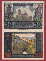 Allemagne 1 Notgeld 50 Pfenning  Stadt Rudelsburg  (RARE)  Dans L 'état Lot N °5091 - Collections
