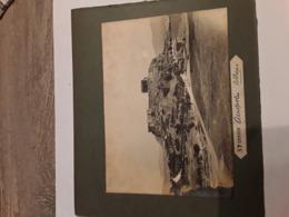 GRANDE FOTO  RECTO  VERSA  SUR CARTON GREECE GRIEKENLAND ACROPOLIS ATHENE AFMETINGEN 12 CM OP  16 CjM - Ancianas (antes De 1900)