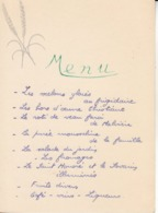 Menu : 30 Septembre 1954 - Menus