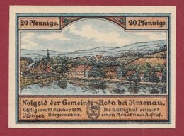 Allemagne 1 Notgeld 20 Pfenning  Stadt Ilmenau  (RARE)  Dans L 'état Lot N °5099 - Collections