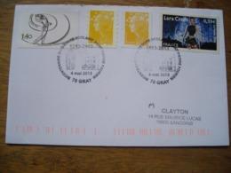 2013 200e Groupe Scolaire Saint Pierre Fourier, Timmbre Lara Croft, Golf - Postmark Collection (Covers)