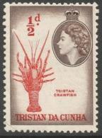 Tristan Da Cunha. 1954 QEII. ½d MNH. SG 14 - Tristan Da Cunha