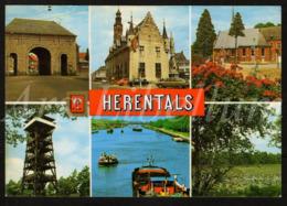 Postcard / CPA / 2 Scans / Herentals / Groeten Uit Herentals / Boekhandel Ostyn / Foto Cine Van Geel / 2 Scans - Herentals