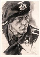 """III. Reich, Propagandakarte """" Panzerspähmann """" Haus D. Deutschen Kunst - Weltkrieg 1939-45"""