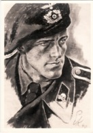 "III. Reich, Propagandakarte "" Panzerspähmann "" Haus D. Deutschen Kunst - Guerre 1939-45"