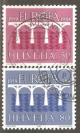 Switzerland: Europa-CEPT, Full Set Of 2 Used Stamps, 1984, Mi#1270-1271 - Europa-CEPT