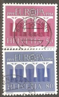 Switzerland: Europa-CEPT, Full Set Of 2 Used Stamps, 1984, Mi#1270-1271(2) - Europa-CEPT