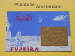 Fujeira 1971, GOLD / APOLLO 11 / SPACE RAUMFAHRT ESPACE: Mi 818, Bl. 86, ** - Asia