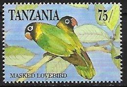 TANZANIA - MNH - 1991 :    Yellow-collared Lovebird  -  Agapornis Personatus - Papegaaien, Parkieten