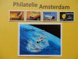 Uganda 1982, SPACE SHUTTLE / SPACE RAUMFAHRT ESPACE: Mi 324-27, + Bl. 33, ** - Afrika