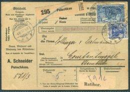 1917 Germany Bulletin D'expédition Paketkarten Parcelcard. Patschkau Ratibor - Constantinople Turkey - Briefe U. Dokumente