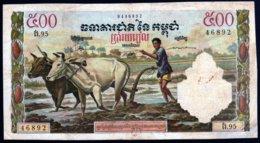 Cambodge 1958/70 500 Riels    F+     Voir Explications - Cambogia