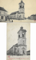Morvilliers - Aube - 2 Cartes - Eglise Et Place De La Tour -  L'glise - Bon état Voir Scan - Cartes écrites - Frankrijk