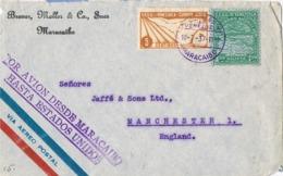 34446. Carta Aerea MARACAIBO (Venezuerla) 1937. Por Avion D Maracaibo A USA - Venezuela