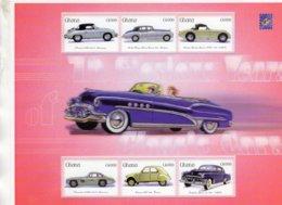 Automobiles  - Porsche-Rolls Royce-Austin Healey-Mercedes-Citroen-Cadillac  -  Ghana 6v  Sheet   MNH/Neuf/Mint - Voitures