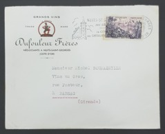 1957 Cover, Enveloppe De Nuits Saint Georges Pour Barsac, France, Republique Française - France
