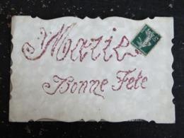 CPA SAINTE MARIE BONNE FETE - CARTE A PAILLETTES - Holidays & Celebrations